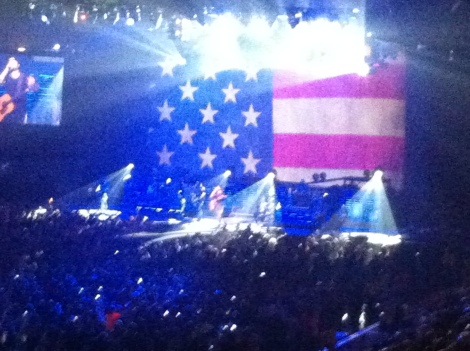 Dierks Bentley up on Stage. He was awesome!